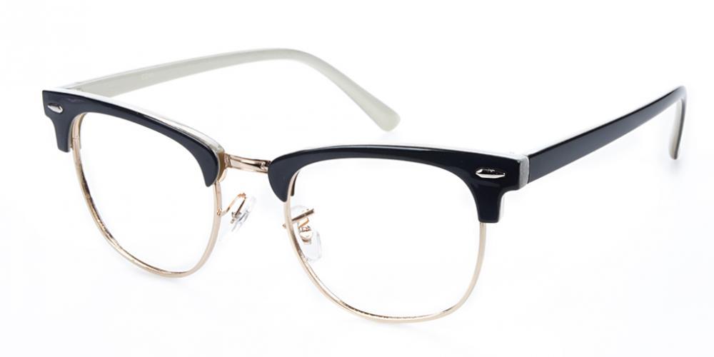 4633b02e00a Vicky Round - Black Cream Eyeglasses