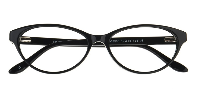 cc627a514a36 Renata Cat Eye - Black Eyeglasses | GlassesShop.com