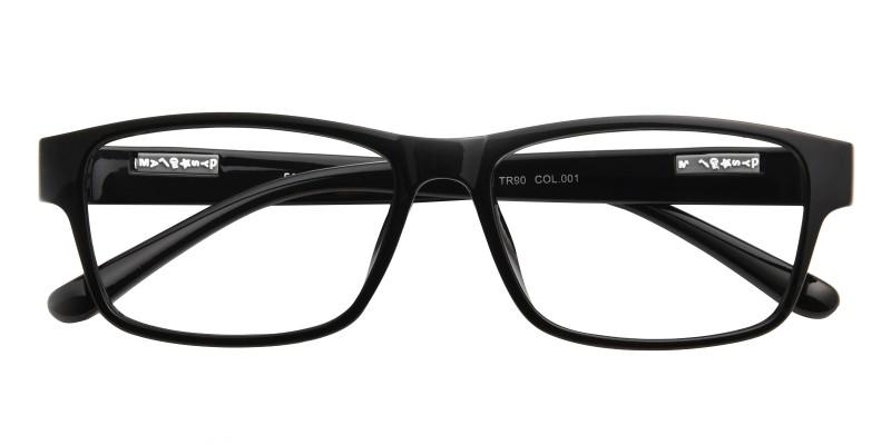 BowlingGreen Rectangle - Black Eyeglasses | GlassesShop.com