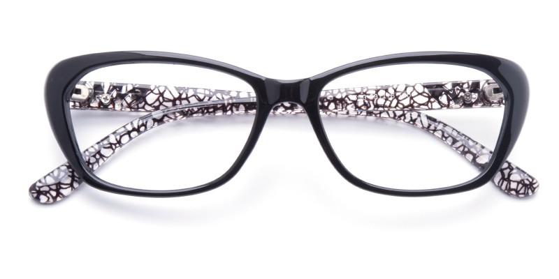 ac3cbb7e3d5 Valentina Cat Eye - Black Eyeglasses