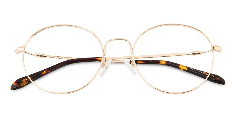 9eb080e51d1 Glenview Round - Golden Eyeglasses