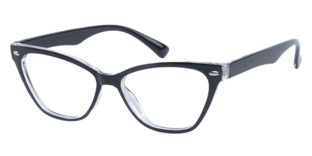 Novia Cat Eye - Black Eyeglasses   GlassesShop.com