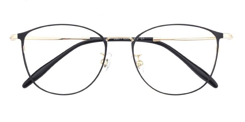 1c8950616b New Classic Wayframe - Black Golden Eyeglasses