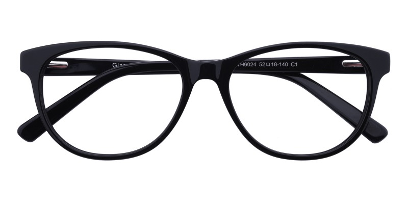 9b099654f3ba Lionel Cat Eye - Black Eyeglasses | GlassesShop.com
