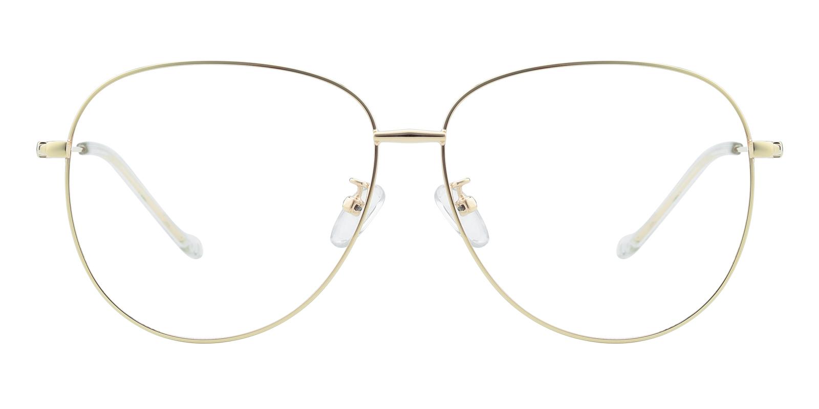 ae3339af12 Fresh Aviator - Golden Eyeglasses