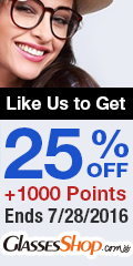 Facebook Fans Exclusive Offer at GlassesShop! Promo ends 7/28/2016