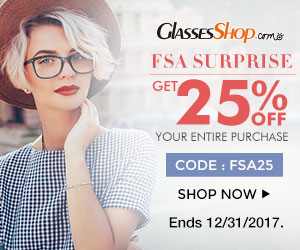 Surpirse Sale! 25% off Entire Order with Code FSA25 At GlassesShop.com Sale Ends 12/31