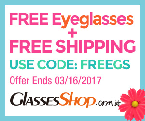 Free Glasses of Same Value With Next Order at GlassesShop.com with coupon code: FREEGS