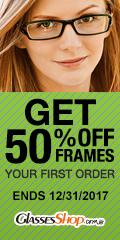 Save 50% off All Frames On Your First Order At GlassesShop.com