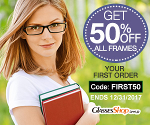 Save 50% off All Frames On Your First Order At GlassesShop.com