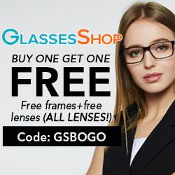 Buy one Get one FREE!  Use Code GSBOGO  Details At GlassesShop.com