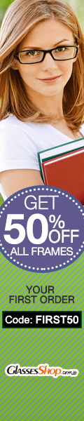 Get 50% off your frames on your first order At GlassesShop.com with Coupon Code: FIRST50