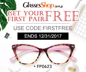 Get Your First Pair Free At GlassesShop.com! Use Coupon Code FIRSTFREE -