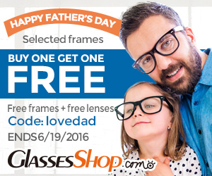 Happy Father's Day Buy One Get One Free At GlassesShop.com! ends 6/19