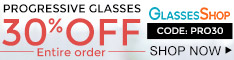 Shop Progressive Glasses and Take 30% Off Entire Order with Code PRO30 at GlassesShop.com. Limited Time Offer.