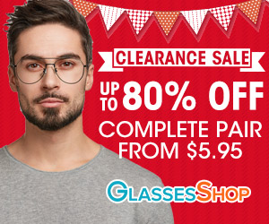 Clearance Sale - up to 80% Off! Take an extra 20% off on orders $39+ with code EXTRA20 at GlassesShop.com. Available for a limited Time.