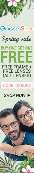 Spring Sale, BUY ONE GET ONE FREE, Free frames+ free lenses at GlassesShop.com. Use code GSBOGO Offer expires 4/10