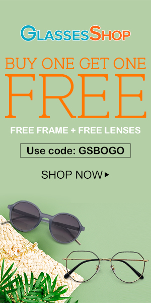 Buy One Get One FREE on All Frames and Lenses at GlassesShop.com with code GSBOGO Offer Expires - 07/10