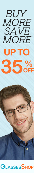 Buy More Save More Sale! 35% Off Orders Over $189 at GlassesShop.com - code SAVE35.  Expires 6/12